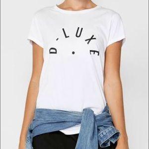 NWT D-Luxe White Semi-Sheer Burnout T-shirt